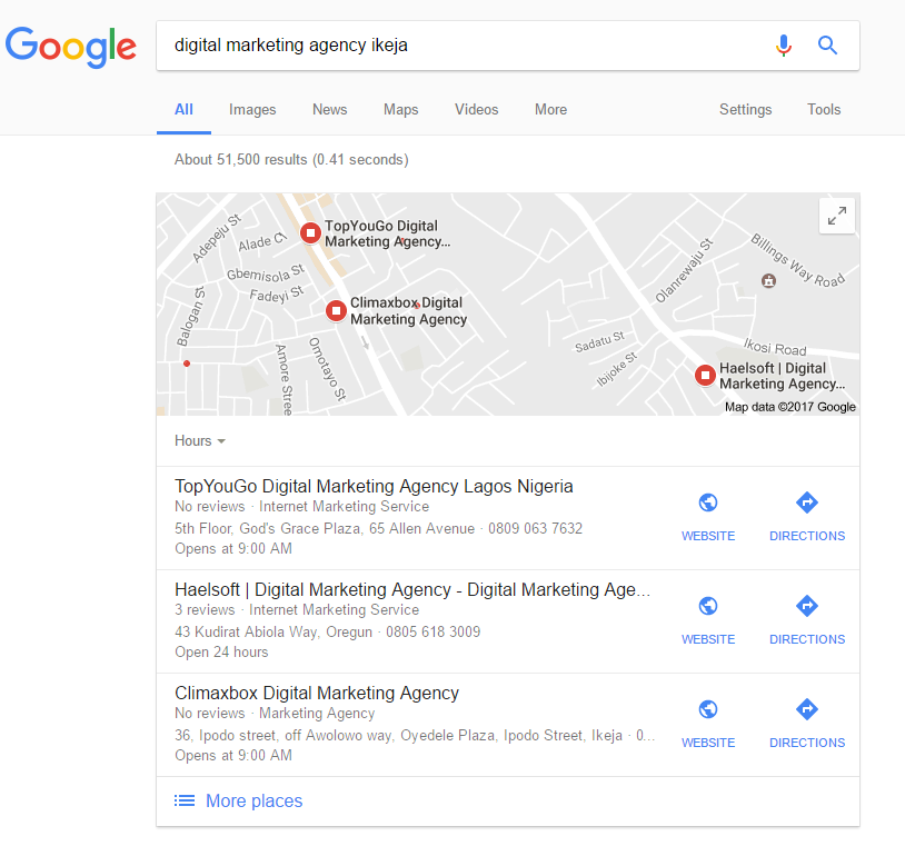 digital marketing agency ikeja local seo lagos