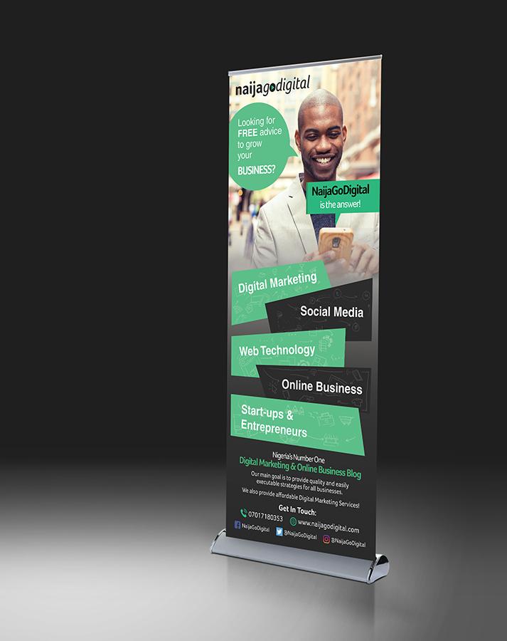 roller banner design services - graphics design company lagos nigeria