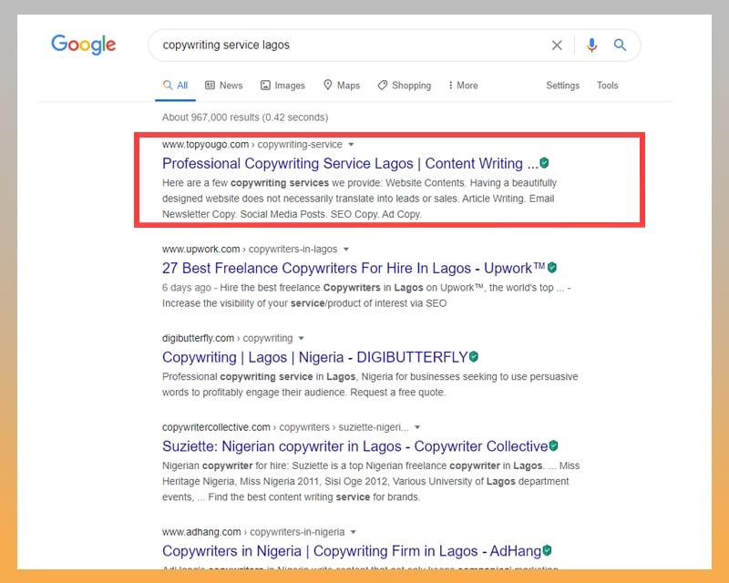 SEO Agency in Lagos Nigeria