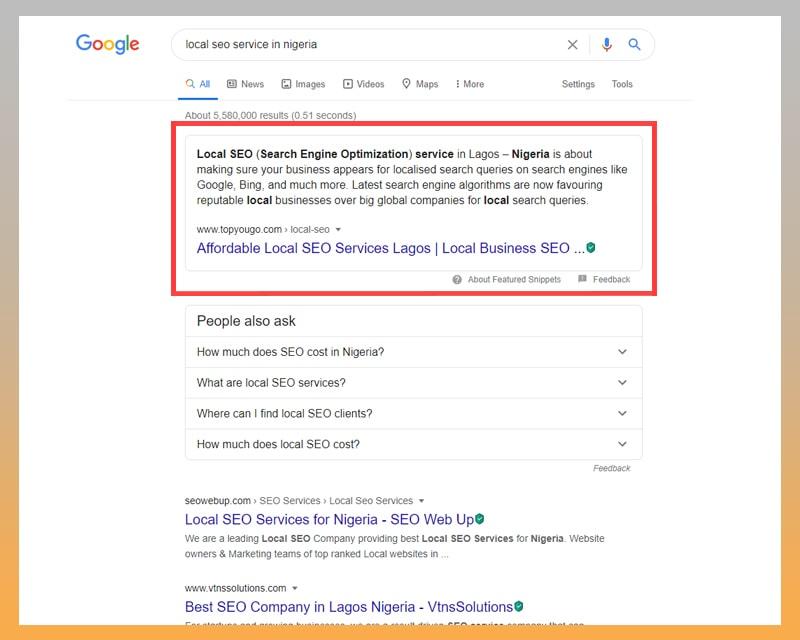 SEO Services in Lagos Nigeria