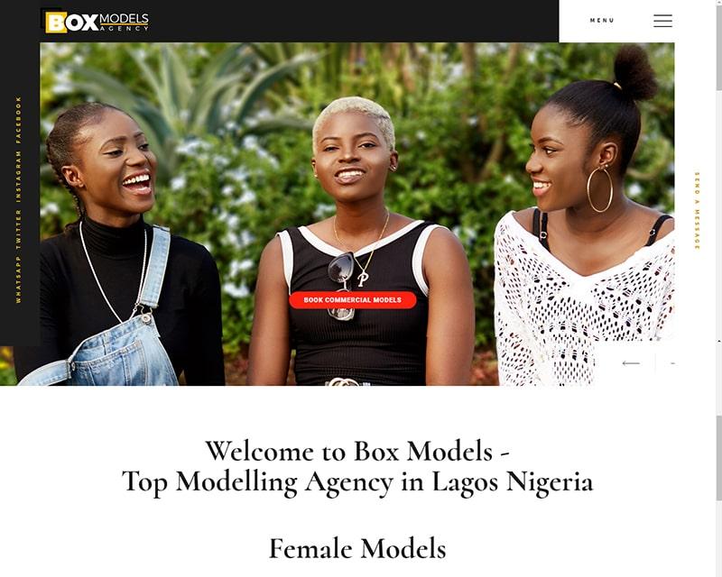 Website Designer in Nigeria - Modelling Agency